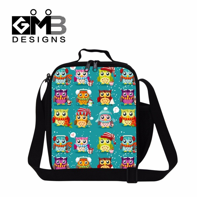 Cute Owl Insulated Lunch Bags for Girls School d001fc65a