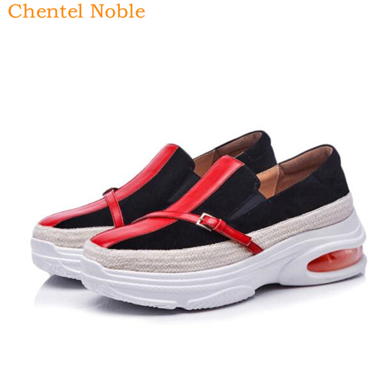Et Femme Mujer Cuir as Supérieure Picture Plate sur Suède En Chaussures Haut Talons Est Qualité forme Slip De Zapatillas Haute Oxford Casual Picture As qzqwtSxHWI