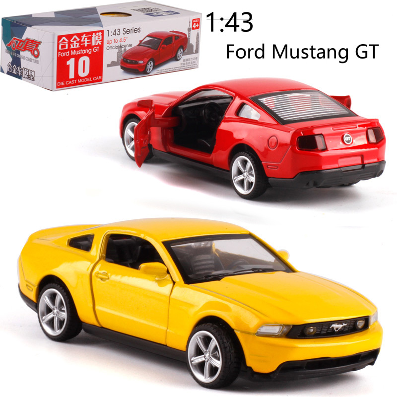 CAIPO <font><b>1:43</b></font> <font><b>Ford</b></font> Mustang GT Alloy pull-back vehicle <font><b>model</b></font> Diecast Metal <font><b>Model</b></font> Car For Boy Toy Collection Friend Children Gift image