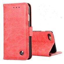 고급 가죽 플립 전화 케이스 아이폰 6 7 8 s 플러스 아이폰 x 마그네틱 지갑 케이스 전체 커버 먼지 방지 카드 현금