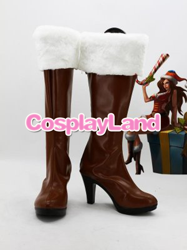 Customize Boots LOL Cosplay Waterloo Miss Fortune Cosplay Boots Cosplay Costume Anime Party Shoes
