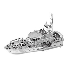 Nanyuan 3D Metal Puzzle Lifeboat boat Model DIY Laser Cut Assemble Jigsaw Toys Desktop decoration GIFT For Audit(China)