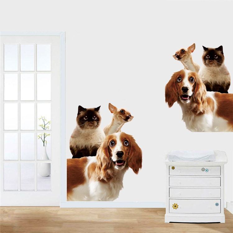 3D Photo Pet Dog Home Room Decor Removable Wall Stickers Decal Decoration