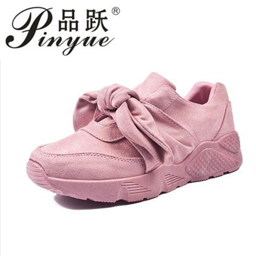 2018 fashion Woman Spring suede Bow Creepers Flat Shoes Women Fashion Slip On Flats Casual Women Shoes size 36--41 beyarne women shoes fashion pointed toe slip on flat shoes woman comfortable single casual flats spring autumn size 35 41 zapato