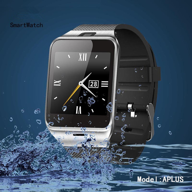 Smartwatch Digital Male Smart Watch GV18 with Camera Sync Notifier Support Sim Card Bluetooth Connectivity IOS/Android Phone