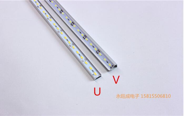 Кухня водить под свет DC12V 5050 5630 5730 LED Жесткий Светодиодные ленты бар свет + V/u алюминий + U плоская крышка 1 м 100 см x 20 м