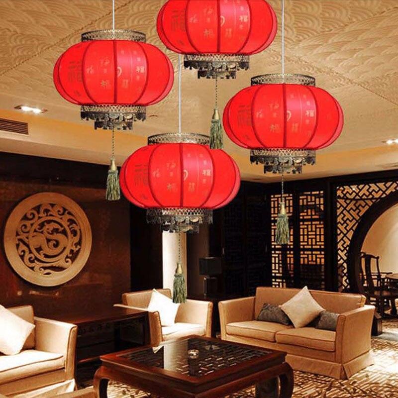 Aliexpress Chinesische Laternen Rot Pendelleuchte Antike E27 Led Leuchtet Hotel Lampe Wohnzimmer Restaurant Pendelleuchten Von Verlsslichen