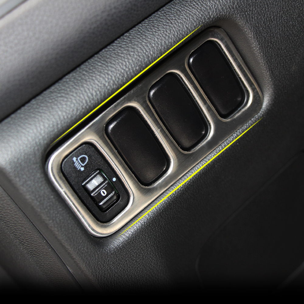 Edelstahl trim scheinwerfer schalter panel tasten licht stahlrahmen ...