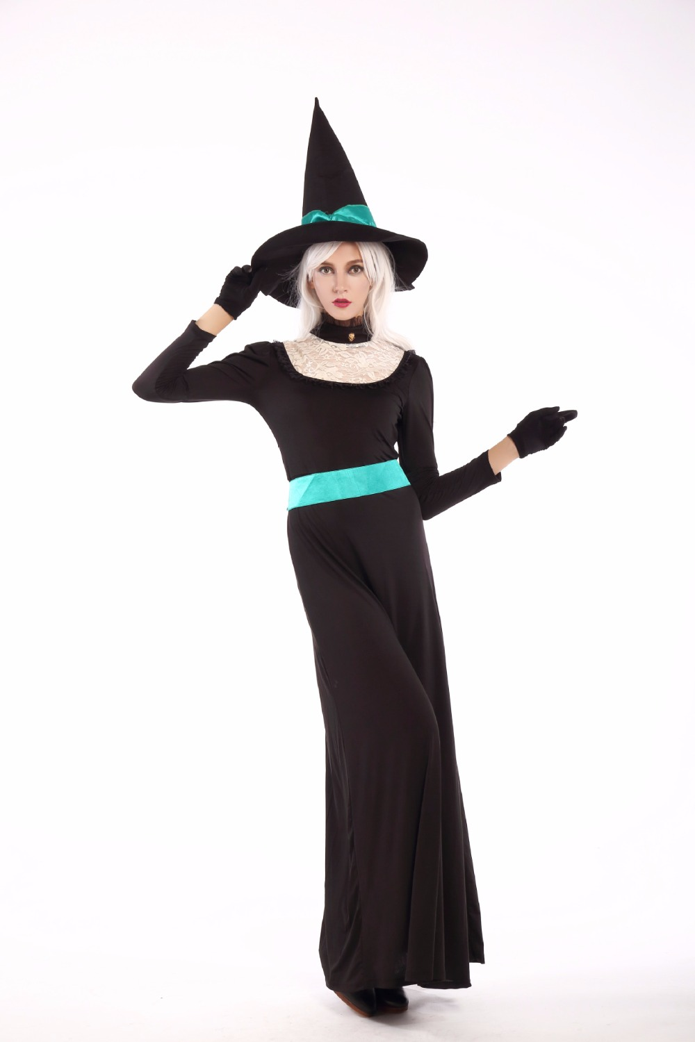 Ladies Wicked Witch Costume Adult Halloween Fancy Dress Book Week Outfit New