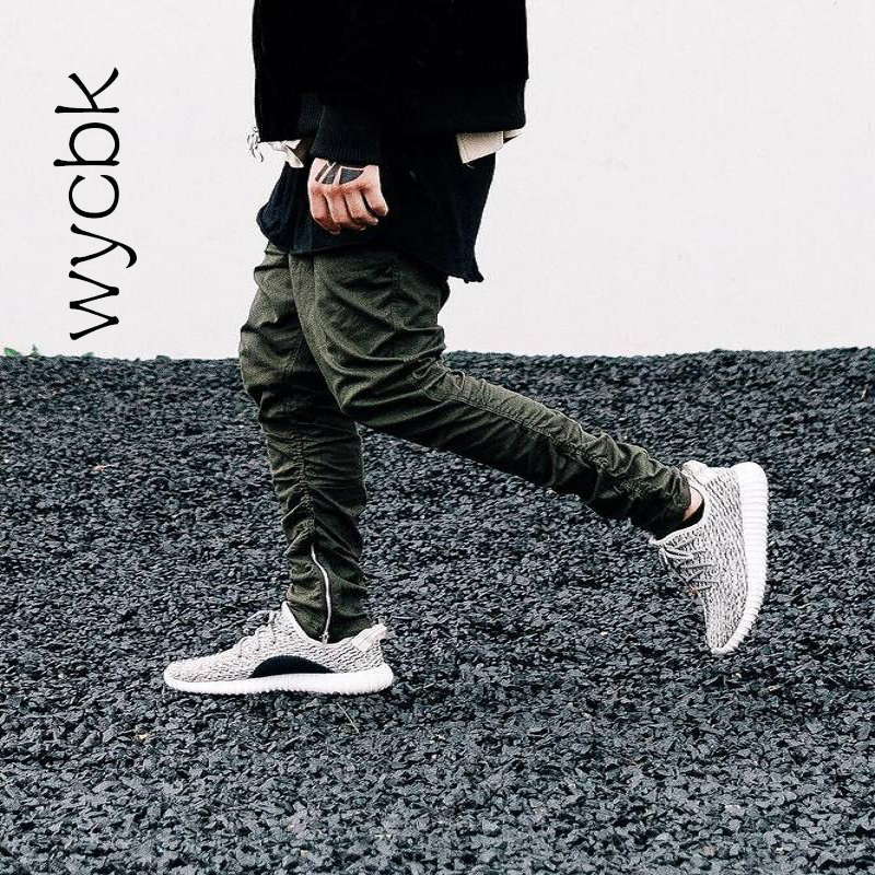 Justin Bieber Brand Style Side Zipper Men Slim Fit Casual Mens Hip Hop Jogger Biker Pants Swag Sweatpants Skinny Trousers Olive Buy At The Price Of 23 91 In Aliexpress Com Imall Com