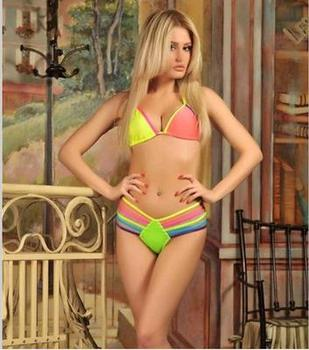 Sexy colorful rope Bikini Swimsuit lady Agent Provocateur swimsuit image