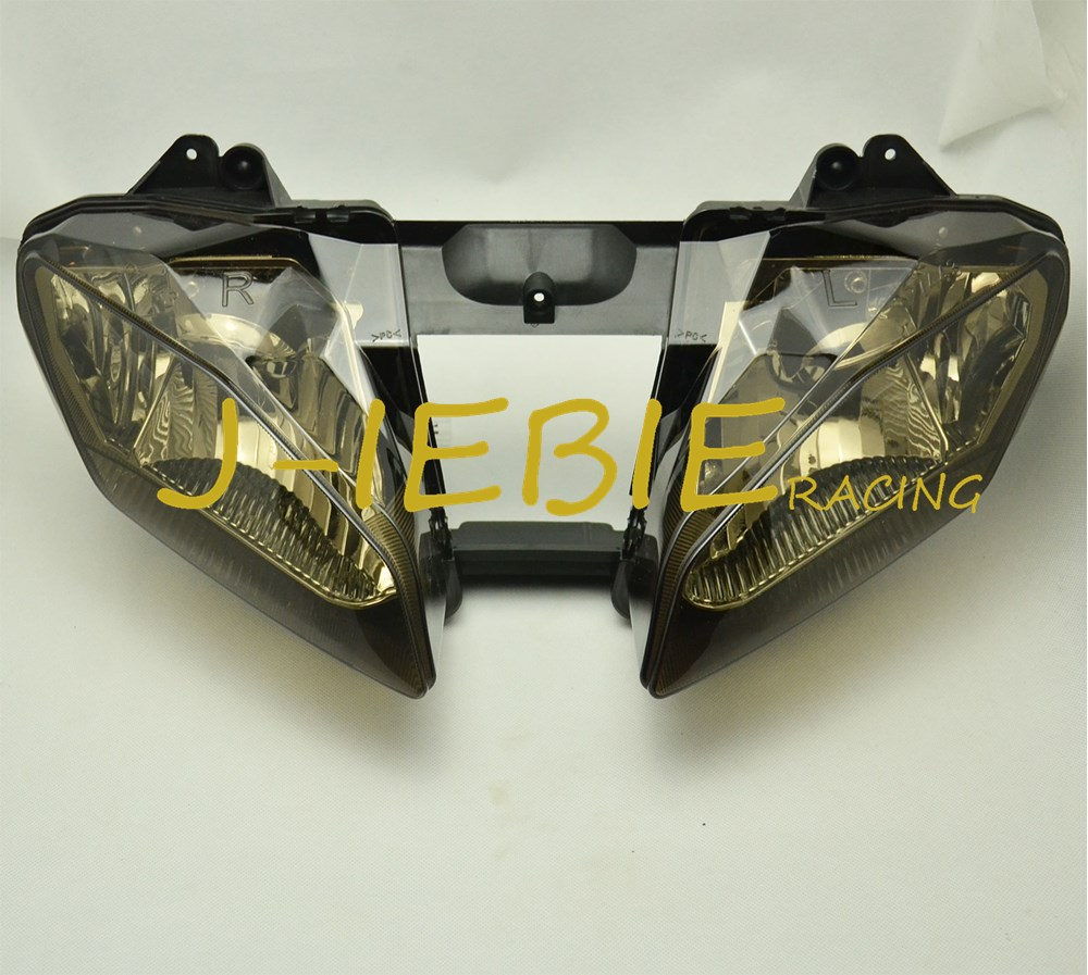 Smoke Front Headlight Head Light Lamp Assembly For Yamaha YZF R6 2008 2009 2010 2011 2012 2013 2014 2015 2016 aftermarket free shipping motorcycle led tail light for 2006 2007 2008 2009 2010 2011 2012 2013 yamaha yzf r6 yzf r6 smoke