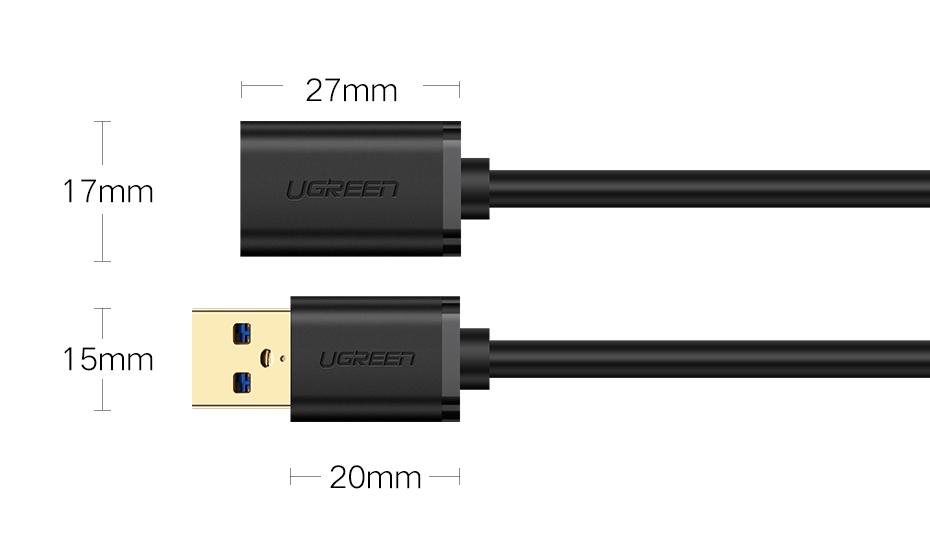 ugreen del на USB кабель супер скорость с USB 3.0 кабель мужчин и женщин 1 м 2 м 3 м синхронизации данных USB 2.0 кабель шнур дл дл