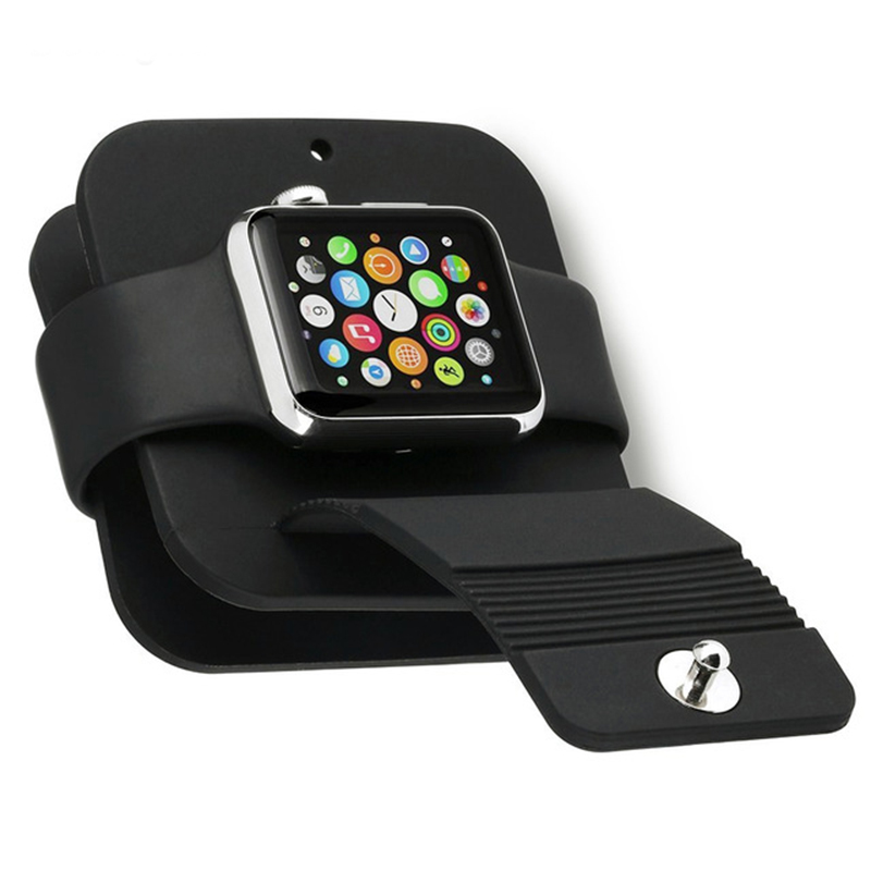For Apple Watch 4 3 2 1 Band Base Silicone Charging Cable Winder Stand Dock Cable Holder Wallet For Iwatch 38MM 42MM