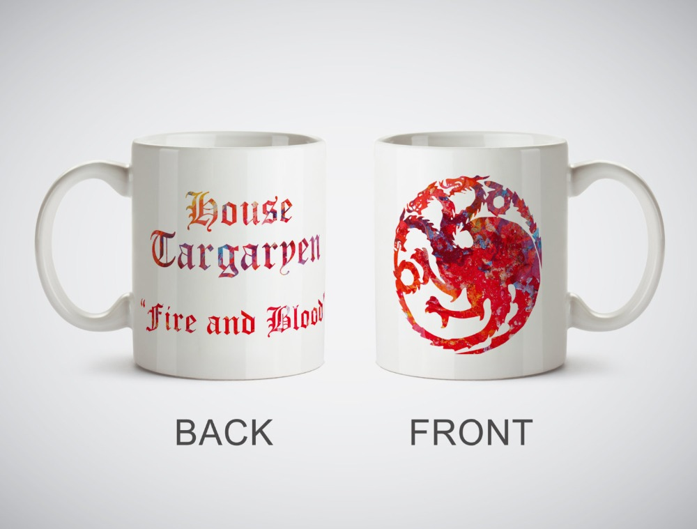 Game of thrones House Targaryen mugs Kitchen Decor ceramic Cup home decal owl cups beer milk tea porcelain coffee mug cups