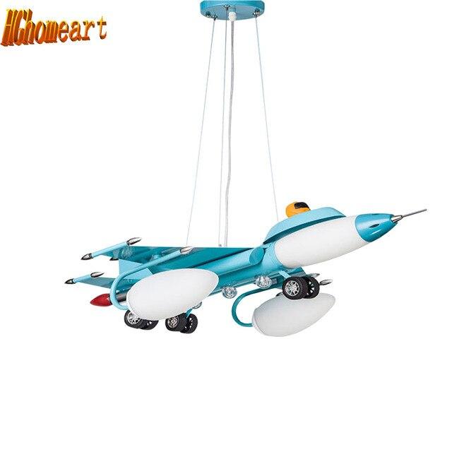 Voorkeur LED hanglampen cartoon vliegtuig Verlichting voor kinderkamer Kids XI06
