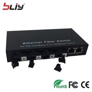 Image 3 - 4G2E switch gigabit 4 SC fiber 2 RJ45 4 fiber oem embedded single mode bi directional passive fiber optic media converter