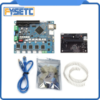 Cloned Duet 2 Wifi V1.04 DuetWifi Advanced 32 Bit Electronics + PanelDue Connected Board For BLV MGN Cube 3D Printer CNC Machine