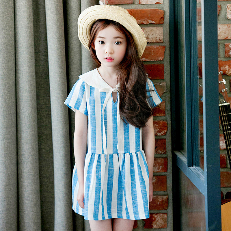 Summer Dress Girl 2017 Brand Casual Kids Costume for Girls Dresses Cotton Short Sleeve Baby Girl Clothes Disfraz Infantil