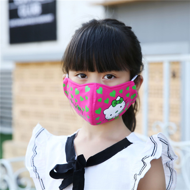 5pcs/Pack Korean Mouth Kask Cute Kawaii Hello Kitty Cartoon Mask New Autumn And Winter Dust Animation Masks W