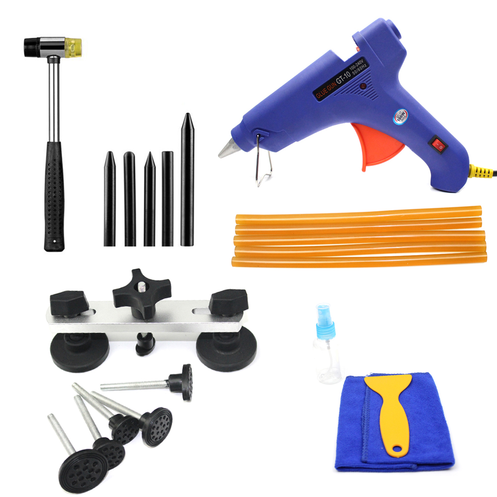 Paintless Dent Repair Tools Kit Pulling Bridge Glue Gun High Quality Car Dent Removal Tools Set high quality excavator seal kit for komatsu pc200 5 bucket cylinder repair seal kit 707 99 45220