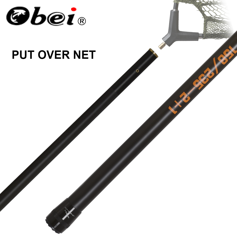 obei Put over CARP land net pole 1 58M 2 35M CARP fishing rod Folding Landing net in Fishing Rods from Sports Entertainment