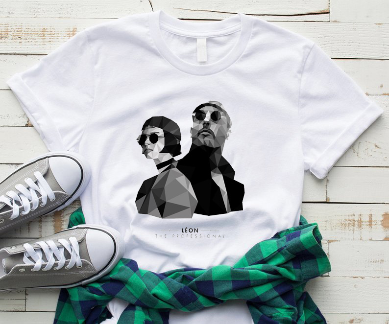 Leon The Professional Tees Short Sleeve Clothing Style Letter Women Vogue O-neck Cotton Vintage Female T-shirt Camiseta Mujer