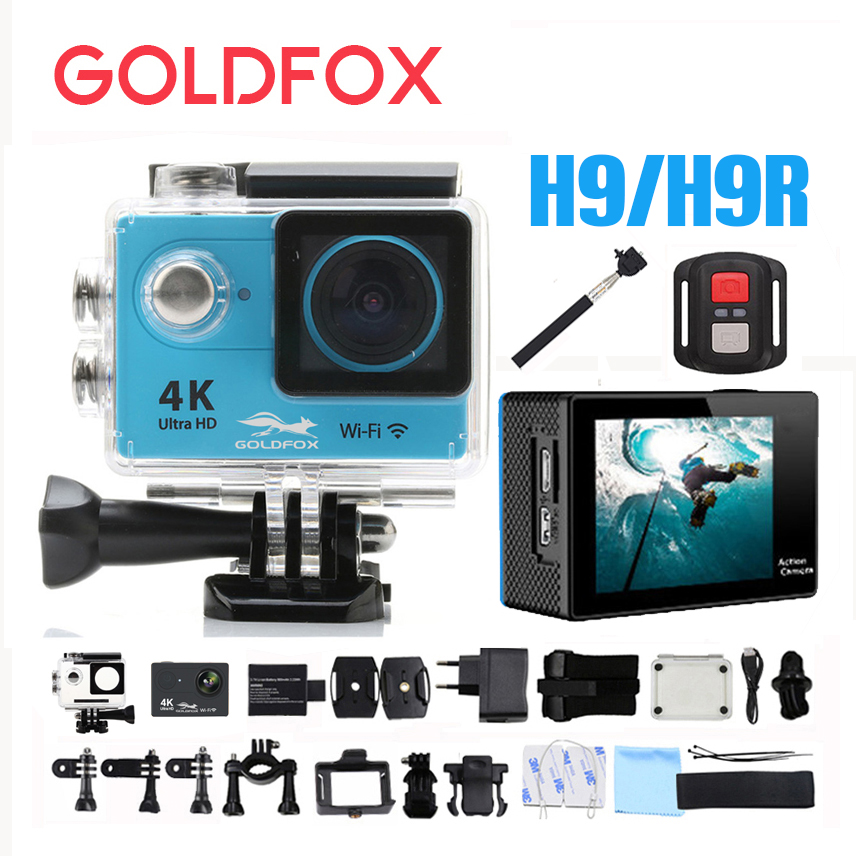 2018 New H9 Action camera 4K H9R Ultra HD WiFi 2.0 170D underwater waterproof go Helmet Cam camera Sport cam pro Camcorders battery dual charger bag action camera eken h9 h9r 4k ultra hd sports cam 1080p 60fps 4 k 170d pro waterproof go remote camera