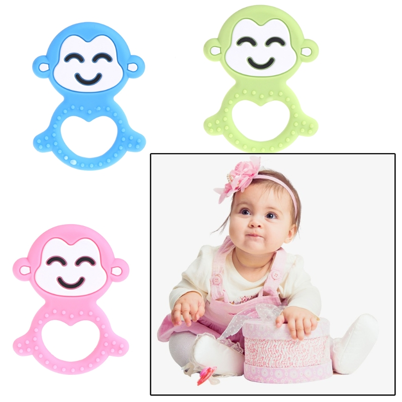 Kawaiyi Little Monkey Teether Silicone Monkey Diy Teething Necklace Food Grade Silicone Teether Baby Pendants