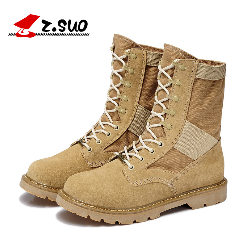 2016 New Military Boots Outdoor Desert Tan Combat Army
