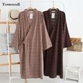 Vestidos Para Los Hombres Albornoces Del traje de Kimono Robes de Dormir y Descansar Ropa de Algodón Vestido de Los Hombres de La Vendimia