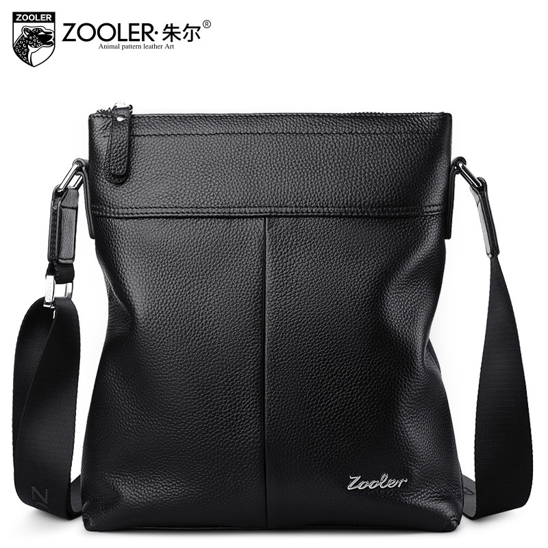 ZOOLER Genuine Leather Bag Male Fashion Leisure Shoulder Bags Cowhide Embossed Messenger Bag For Men Crossbody Bags Sac A Main zooler brand genuine leather shoulder bags for women casual messenger bag ladies small cowhide leather crossbody bags sac a main