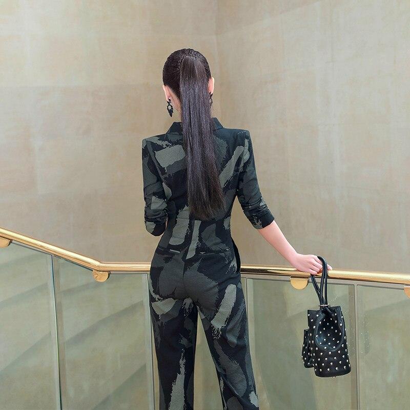Pantalon Flare Et Jambe Vert Tendance Printemps De Salopette Large Camouflage Sexy Mode En Pullsuit La Été Streetwear xYWxSHPqf