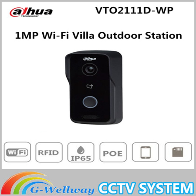 Dahua 1MP WiFi Video Intercom Doorbell Villa Outdoor Station Without Logo VTO2111D-WP megapixel Night vision Voice indication free shipping dahua door intercom ip villa outdoor station ip54 ik07 night vision without logo vto2000a
