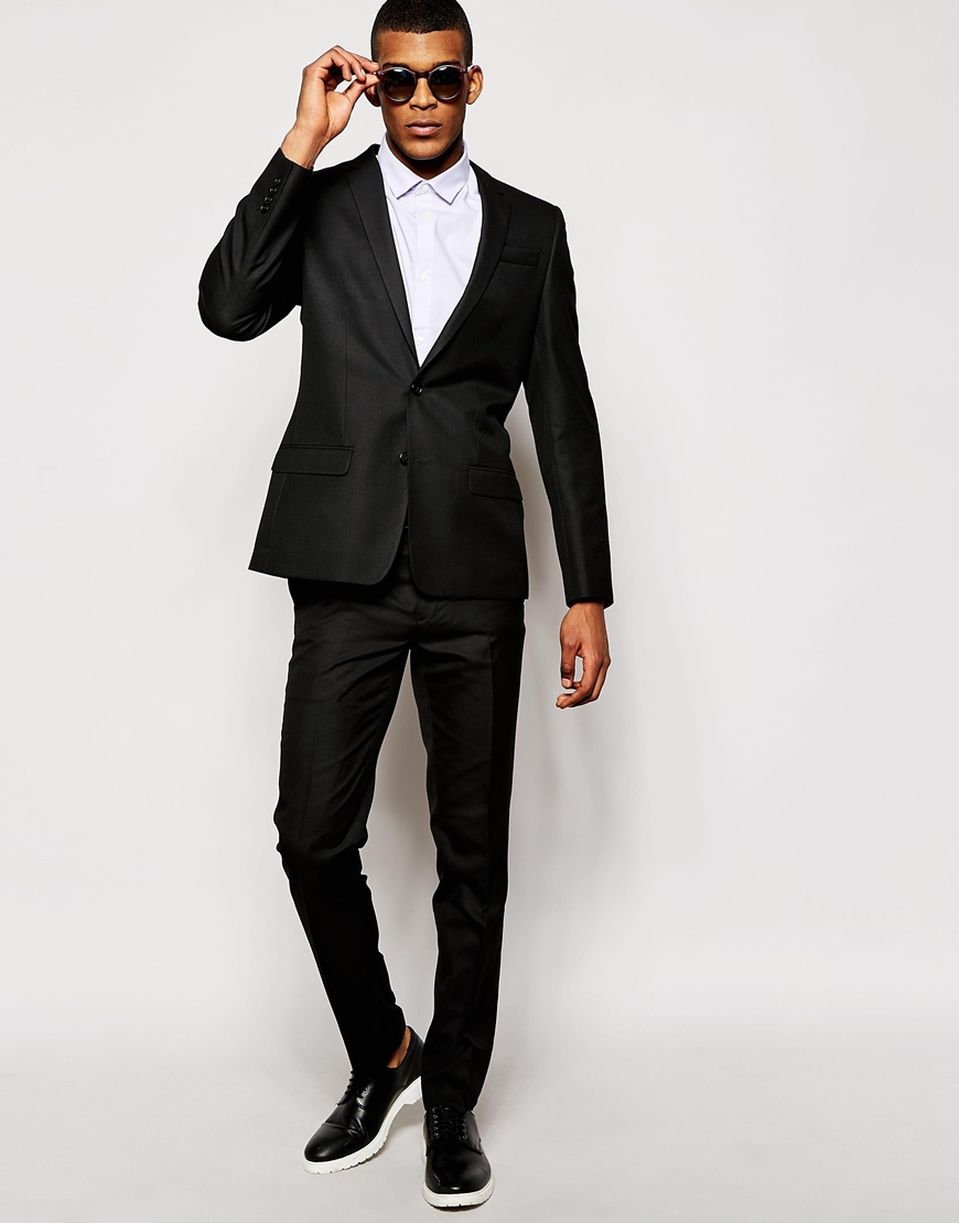 33. Custom Made Black Mens Suits Peaked Wedding Suits For