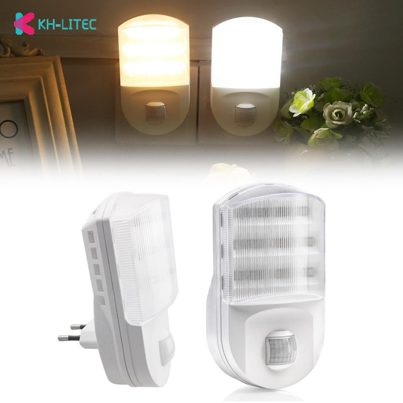 Super brilhante plug in pir sensor de movimento led night light sensor lâmpada 9 leds luminaria quarto corredor luz da parede led nightlight