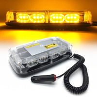 Amber Truck Vehicle Car Roof Top LED Flash Strobe Light auto Hazard Emergency Lamp Yellow led warning lights DC12V