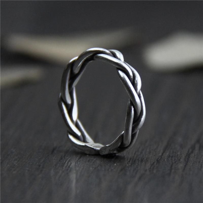 925 Sterling Silver Braided Handmade Ring