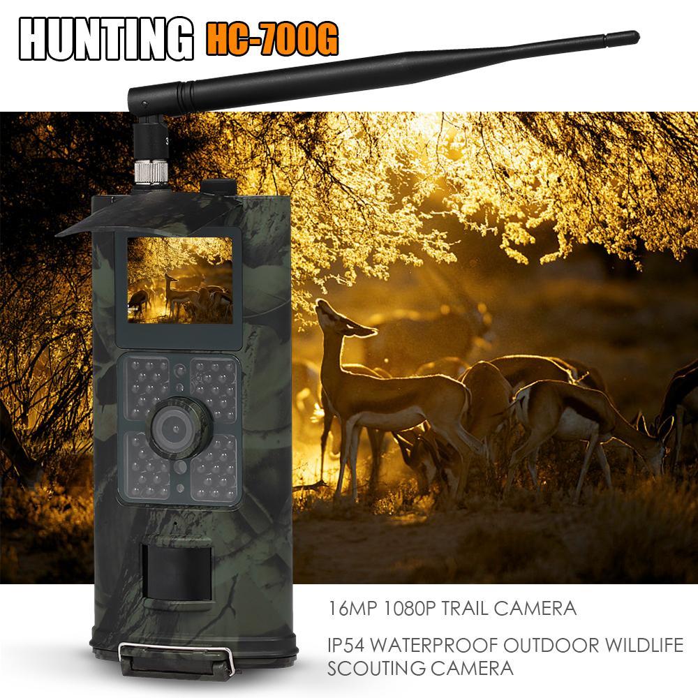 16MP 1080 P 3G SMS GSM caméra de chasse caméra de repérage de la faune en plein air avec capteur PIR Vision nocturne infrarouge caméra de sentier IP54