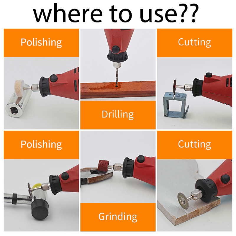 Toolgo High Power Dremel Mini Drill Engraver 6 Position Variable Speed Rotary Tools Grinding Power Tools in Grinders from Tools