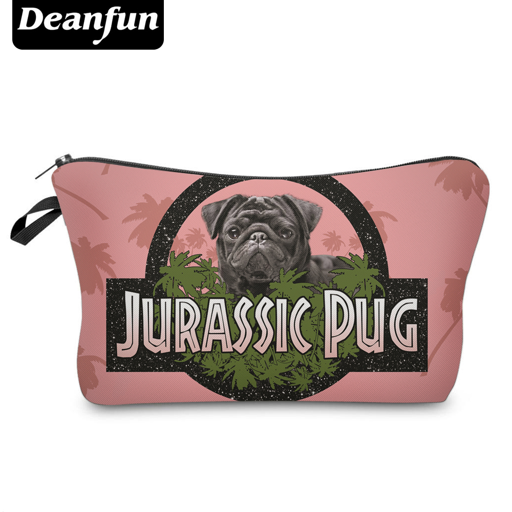 Deanfun Cosmetic Bags 3D Printing Pug Animal Women Makeup Organizer Necessaries For Travelling  50132
