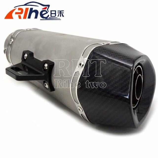 De boa qualidade universal moto silenciador de fibra de carbono modificado tubo de escape para yamaha fz1 fazer fz6 fz6r 09-15 fz8 xj6 desvio