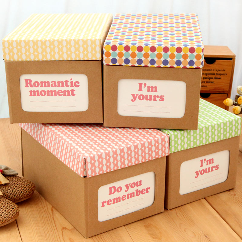 Beau Free Shipping Ann Multifunctional Diy Home Cowhide Paper Storage Box Shoe  Box Sundries Box Storage Box With Lid In Storage Boxes U0026 Bins From Home U0026  Garden ...
