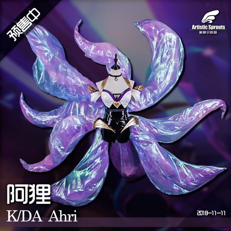 2019 Hot New LOL Idol singer new skin KDA Nine Tailed Fox Ahri cosplay costume New