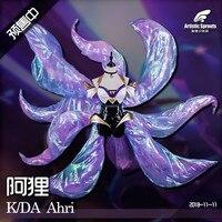 2019 Hot New!!LOL Idol singer new skin KDA Nine Tailed Fox Ahri cosplay costume New dress