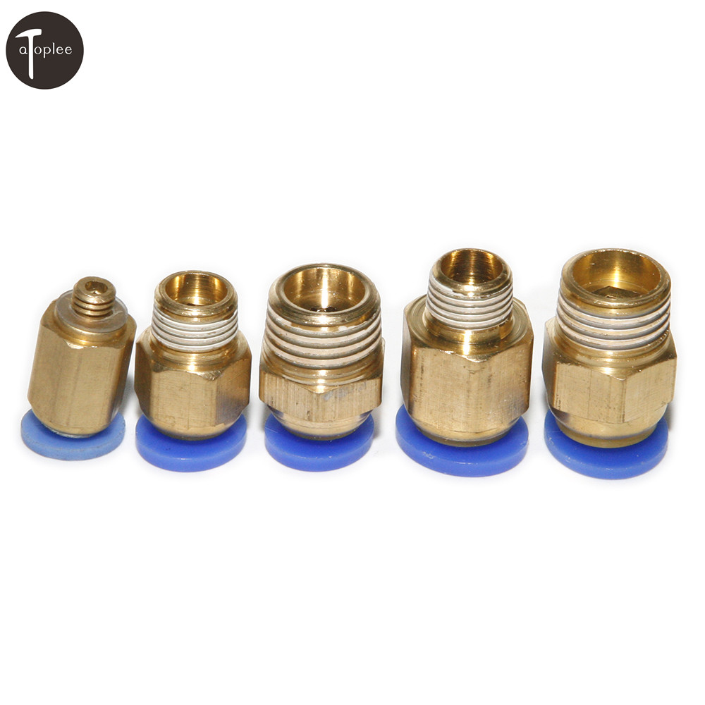 "1 Pc Messing Pc Gerade Air Fitting Für 4mm/6mm/8 Mm Rohr Push In 5mm 1/8 ""1/4"" Gewinde One Touch Quick Fittings Verbinden Starke Verpackung"