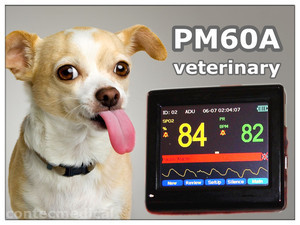 EMS Free Shipping CE APPROVE PM60A Portable Pulse Oximeter and Heart Rate Monitor for Veterinary