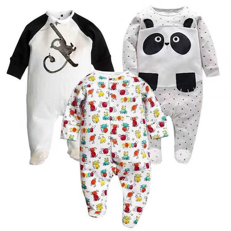 아기 소녀 침목 잠옷 아기 신생아 소년 점프 슈트 2 개/몫 유아 긴 소매 0 3 6 9 12 개월 옷