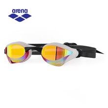 Arena anti nevoeiro uv revestido óculos de natação para homens mulher profissional corrida natação óculos ajustáveis AGL 240M