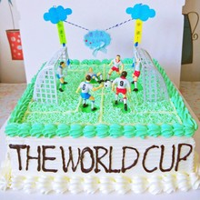 DIY Football Team Scene Cake Decoration Accessories Handmade Tool Decorating Supplies 8PCS